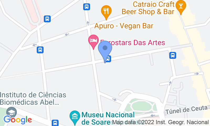 Localizzazione del parcheggio sulla mappa - Prenota un posto nel parcheggio Parque do Carregal
