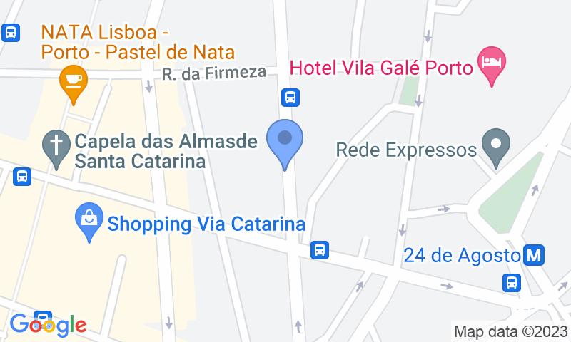 Localización del parking en el mapa - Reservar una plaza en el parking D João IV/Alves da Veiga