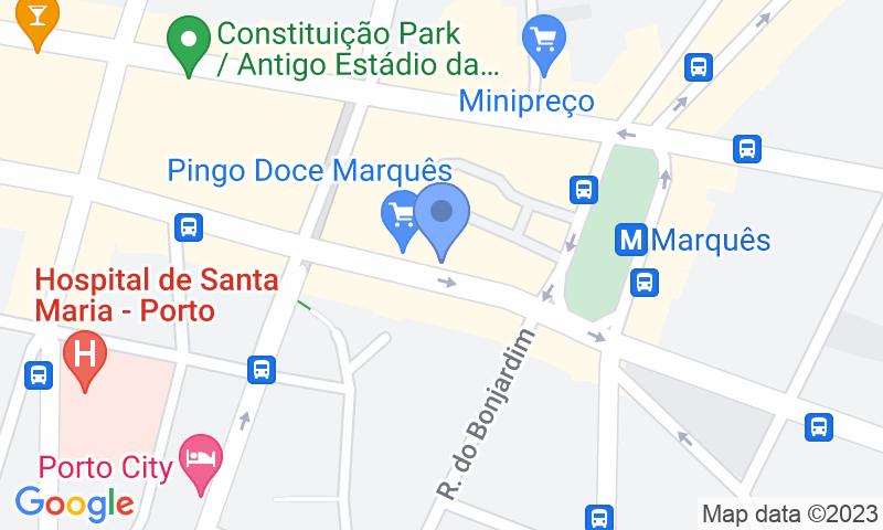 Localizzazione del parcheggio sulla mappa - Prenota un posto nel parcheggio Parque do Marqués