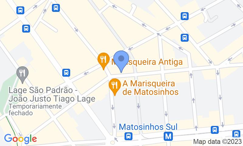 Localizzazione del parcheggio sulla mappa - Prenota un posto nel parcheggio SABA Parque das Marisqueiras P1