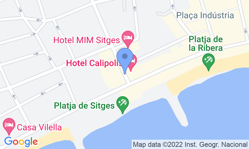 Parking location in the map - Parking Sitges Avenida Sofía
