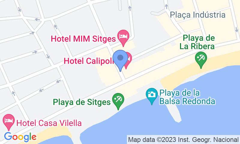 Lugar de estacionamento no mapa - Parking Sitges Avenida Sofía