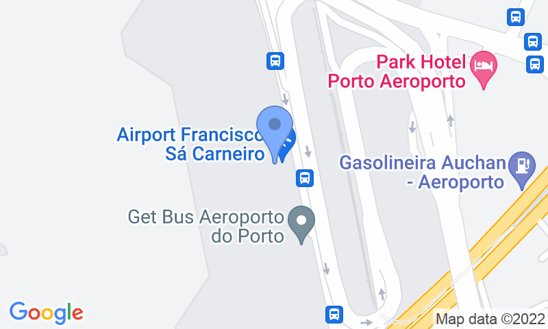 Parking location in the map - Book a parking spot in Porto Low Cost Valet car park