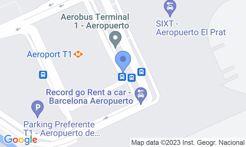 Emplacement du parking sur la carte - Réservez une place dans le parking Parking 10 Barcelona T1 Valet-Exterior
