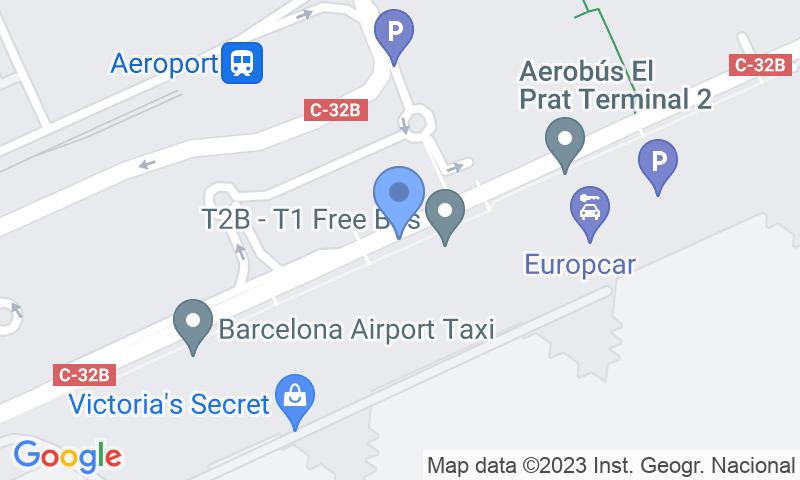 Расположение парковки на карте - Забронируйте паркоместо на стоянке Park & Greet Barcelona - Valet T2