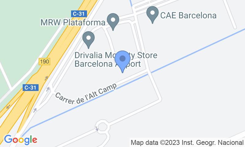 Localització del parking al mapa - Reservar una plaça al parking Park & Greet Barcelona T1 y T2
