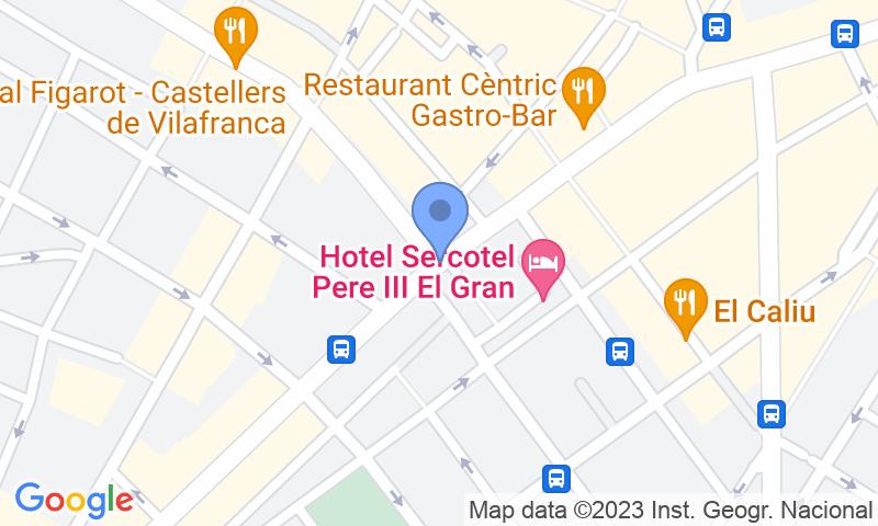 Localització del parking al mapa - Reservar una plaça al parking SABA Plaça del Penedès