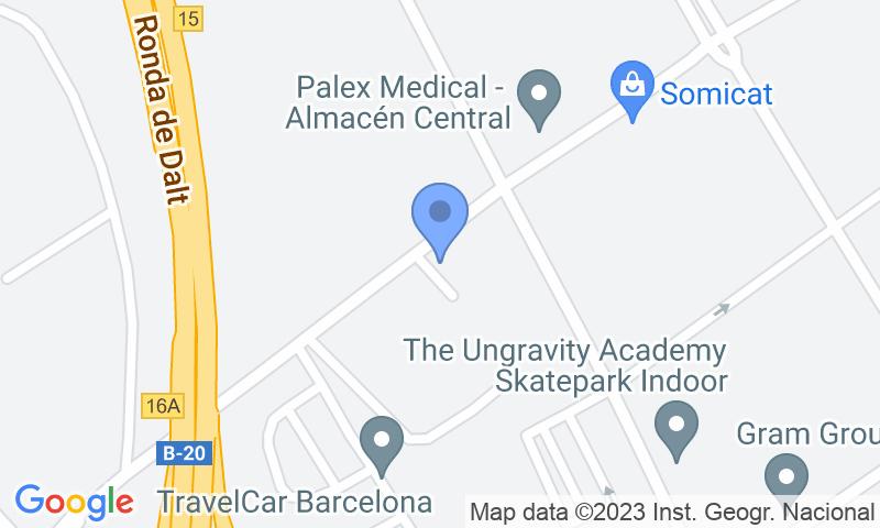 Localizzazione del parcheggio sulla mappa - Prenota un posto nel parcheggio Aeropark Puerto Barcelona-shuttle