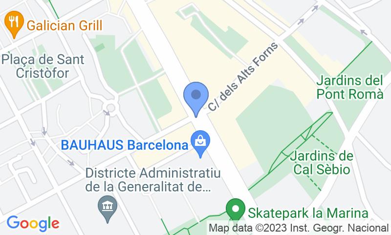 Localización del parking en el mapa - Reservar una plaza en el parking NN Zona Franca