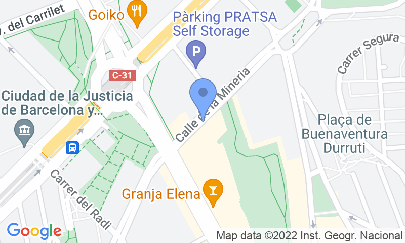 Parking location in the map - Book a parking spot in Torino - Plaça Cerdá  car park
