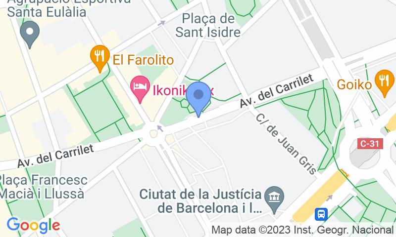 Localización del parking en el mapa - Reservar una plaza en el parking Ciutat de la Justícia (B)