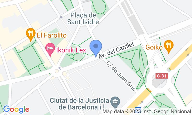 Localizzazione del parcheggio sulla mappa - Prenota un posto nel parcheggio Ciutat de la Justícia (A)