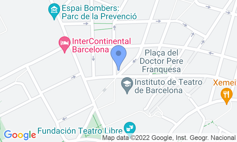 Localizzazione del parcheggio sulla mappa - Prenota un posto nel parcheggio BSM Ciutat del Teatre