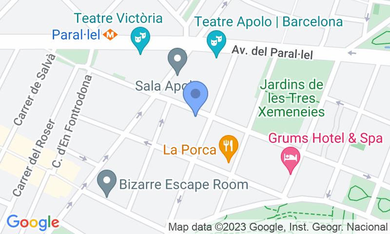 Расположение парковки на карте - Parking Puerto Barcelona Paralelo Vilà i Vilà
