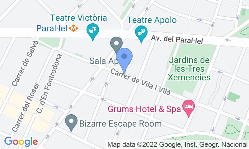 Localización del parking en el mapa - Parking Puerto Barcelona Paralelo Vilà i Vilà