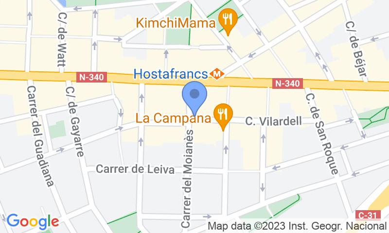 Localizzazione del parcheggio sulla mappa - Prenota un posto nel parcheggio SABA BAMSA Vilardell - Hostafrancs
