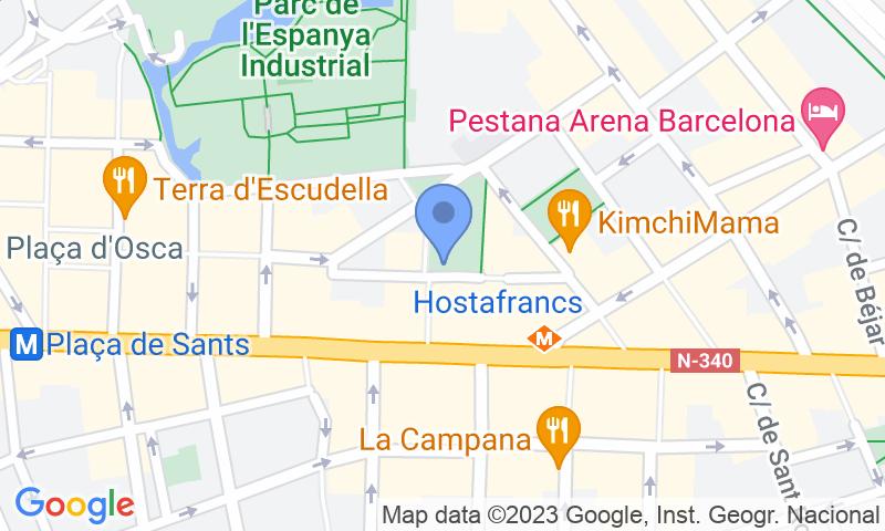 Localización del parking en el mapa - Reservar una plaza en el parking Parking Joan Pelegri – Ave Estació Sants