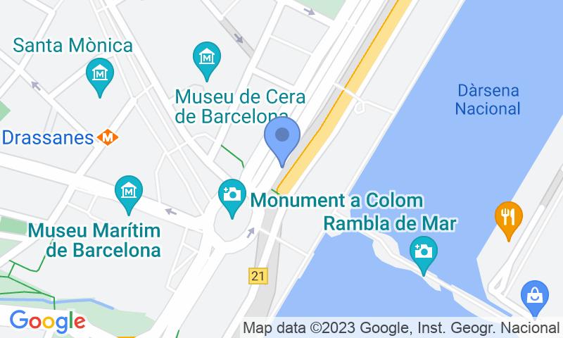 Parking location in the map - Book a parking spot in BSM Moll de la Fusta - Colom car park