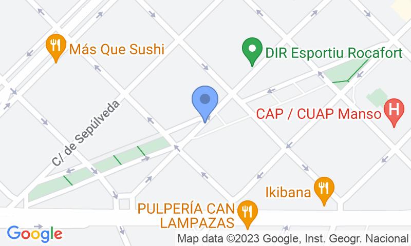 Localización del parking en el mapa - Reservar una plaza en el parking Sant Antoni - Monterrey