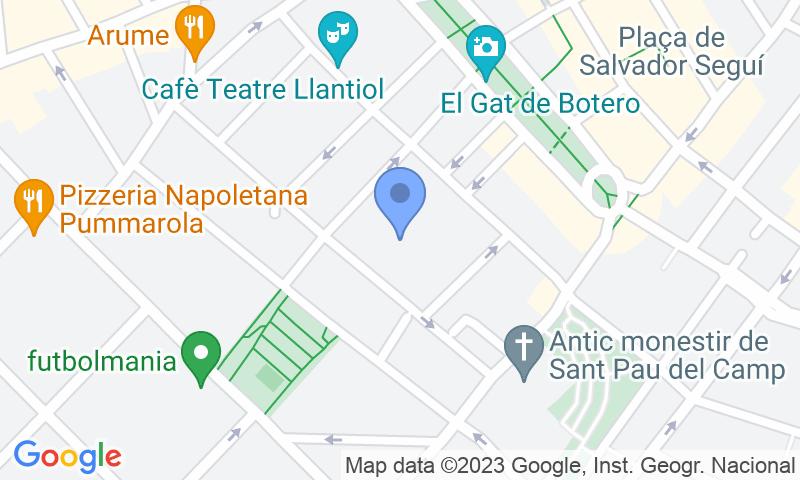 Localización del parking en el mapa - Reservar una plaza en el parking Carretas 45
