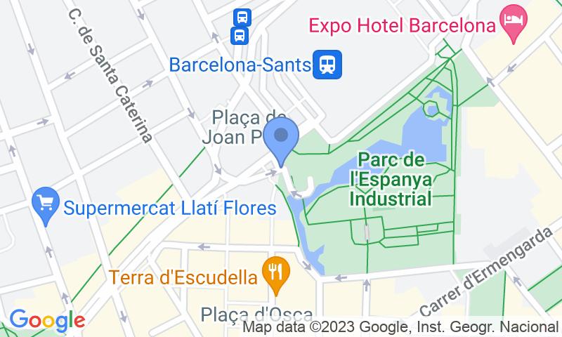 Localización del parking en el mapa - Reservar una plaza en el parking SABA ADIF Estación Barcelona Sants Renfe - Holidays