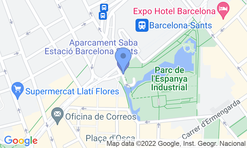 Parking location in the map - Book a parking spot in Blue Valet Estacion Barcelona Sants - Cubierto car park