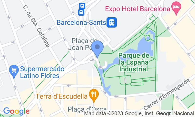 Localizzazione del parcheggio sulla mappa - Prenota un posto nel parcheggio Blue Valet Estacion Barcelona Sants - Cubierto