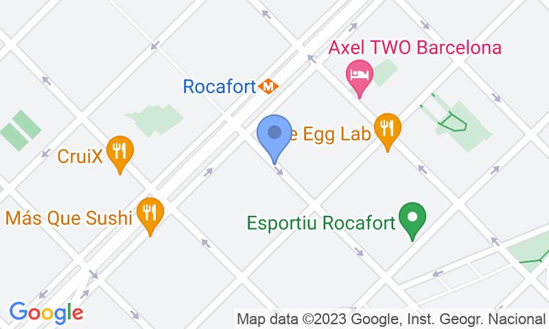 Localización del parking en el mapa - Reservar una plaza en el parking NN Rocafort -Gran Via