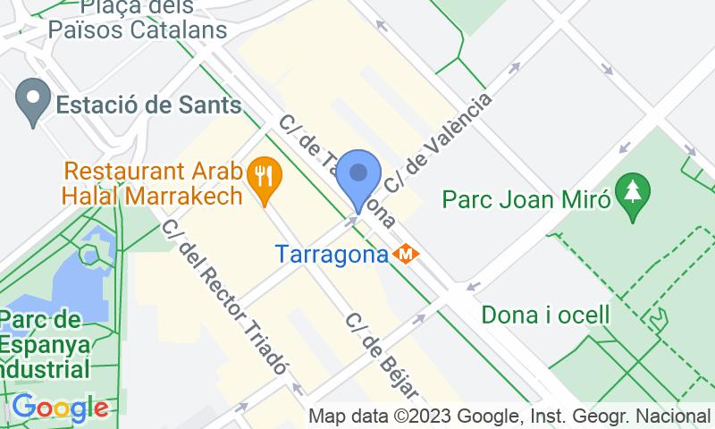 Parking location in the map - Book a parking spot in NN Torre Tarragona car park