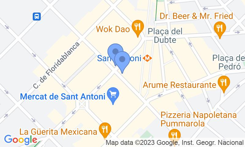 Lugar de estacionamento no mapa - Reserve uma vaga de  estacionamento no SABA BAMSA Urgell - Mercat de Sant Antoni