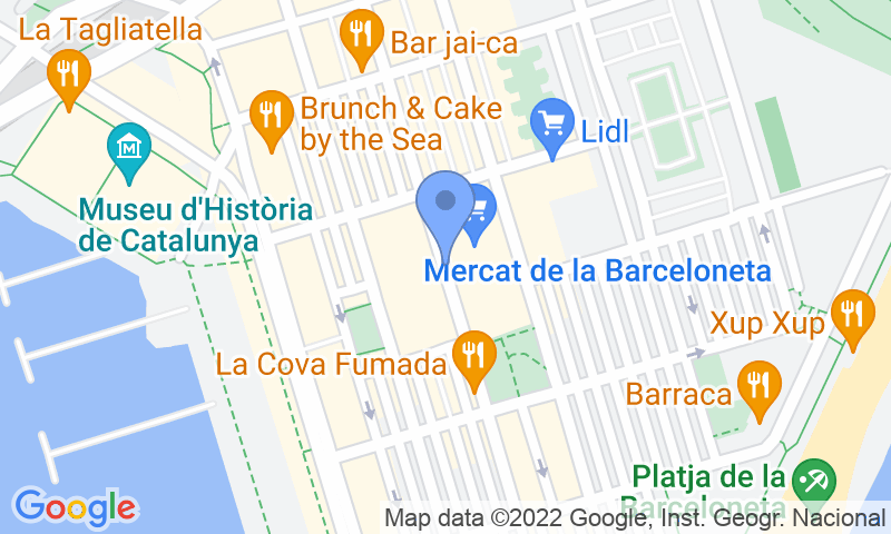 Parking location in the map - Book a parking spot in SABA BAMSA Barceloneta Centre car park