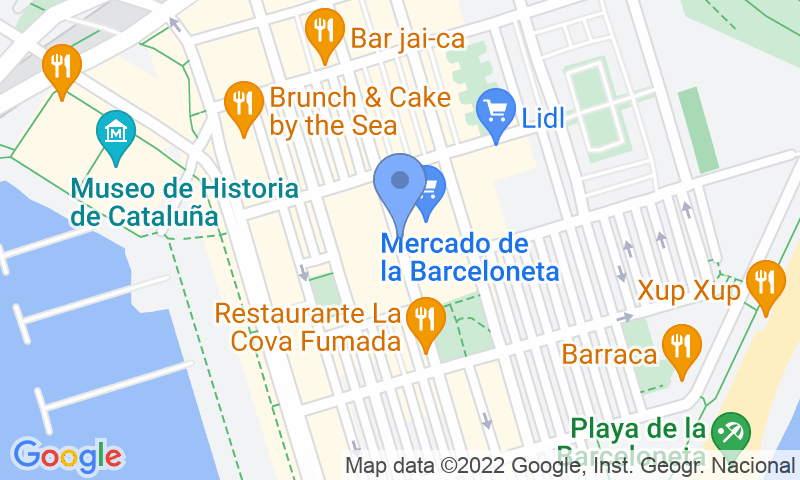 Расположение парковки на карте - Забронируйте паркоместо на стоянке SABA BAMSA Barceloneta Centre