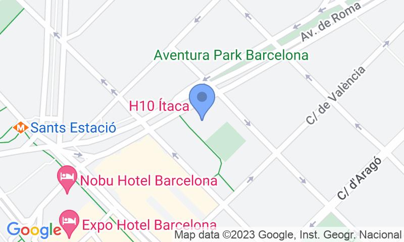 Parking location in the map - Book a parking spot in Parking Roma - Estació de Sants car park