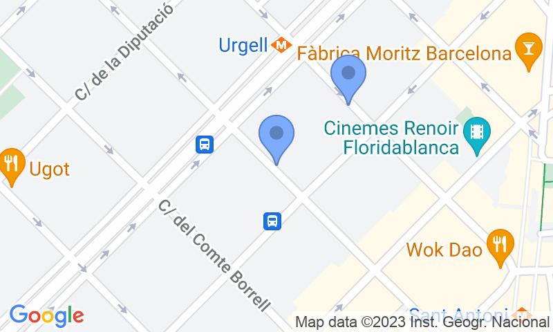 Parking location in the map - Parking Sant Antoni Eixample Urgell - Villur