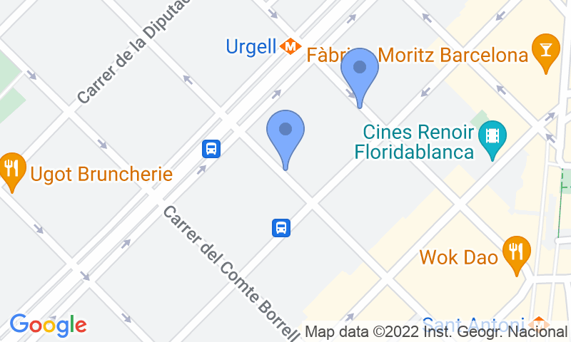Carte Eixample Barcelone.Parking Sant Antoni Eixample Urgell Villur
