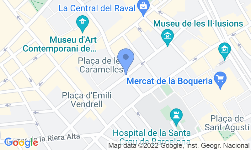 Parking location in the map - Book a parking spot in SABA BAMSA Plaça dels angels car park