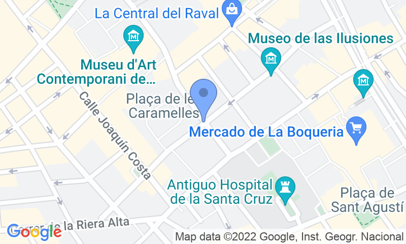 Расположение парковки на карте - Забронируйте паркоместо на стоянке SABA BAMSA Plaça dels angels