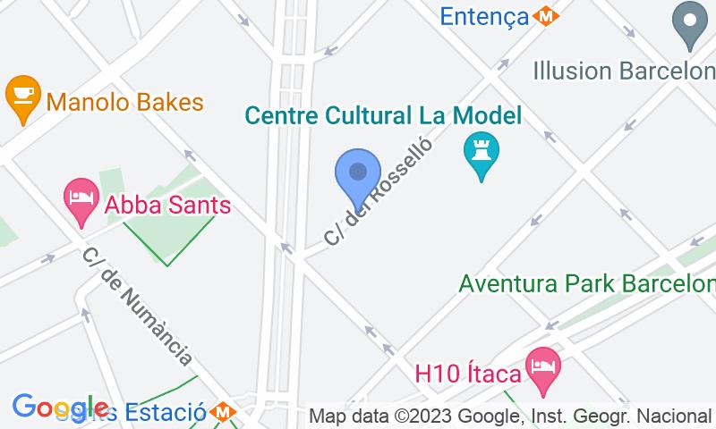 Localización del parking en el mapa - Reservar una plaza en el parking NN Master Catalonia - Rosselló - Tarradellas