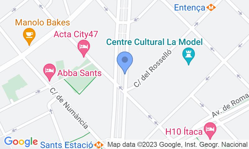 Localització del parking al mapa - Reservar una plaça al parking SABA BAMSA Josep Tarradellas 3 - Nicaragua