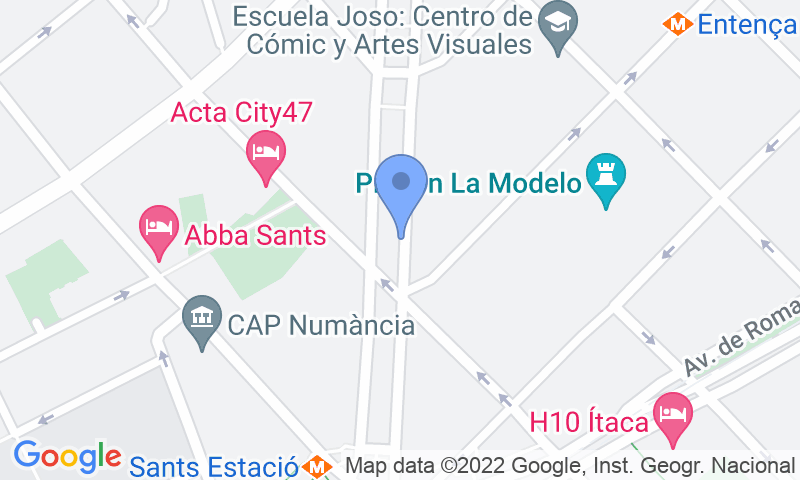 Localizzazione del parcheggio sulla mappa - Prenota un posto nel parcheggio SABA BAMSA Josep Tarradellas 3 - Nicaragua