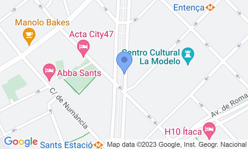 Parking location in the map - Book a parking spot in SABA BAMSA Josep Tarradellas 3 - Nicaragua car park