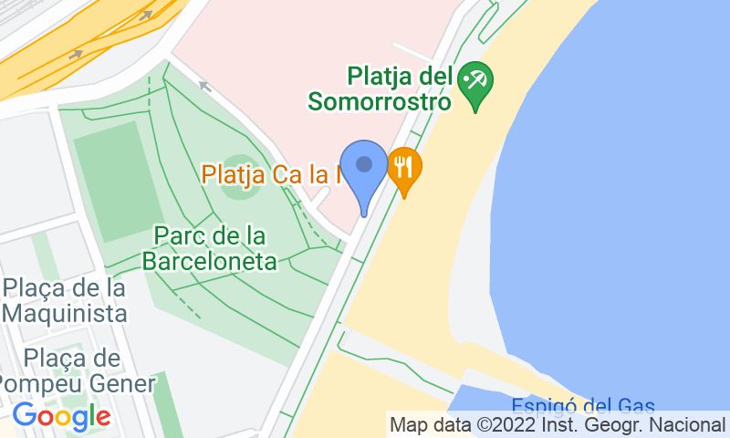 Emplacement du parking sur la carte - Réservez une place dans le parking BSM Barceloneta - Hospital del Mar