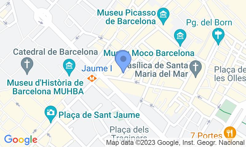 Localización del parking en el mapa - Reservar una plaza en el parking Princesa