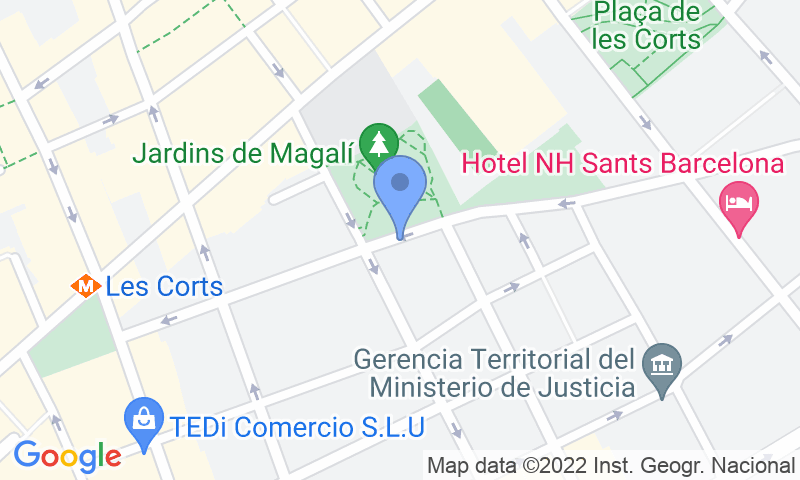Localizzazione del parcheggio sulla mappa - Prenota un posto nel parcheggio NN Marquès de Sentmenat 2 - Sants
