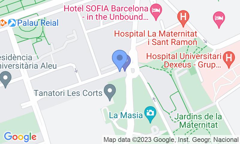 Localización del parking en el mapa - Reservar una plaza en el parking BSM Les Corts - Tanatori
