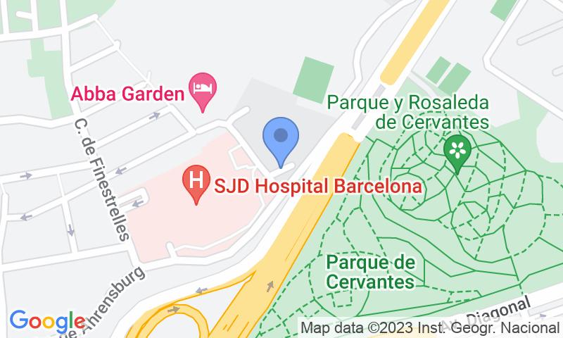 Lugar de estacionamento no mapa - Reserve uma vaga de  estacionamento no SABA Sant Joan de Déu