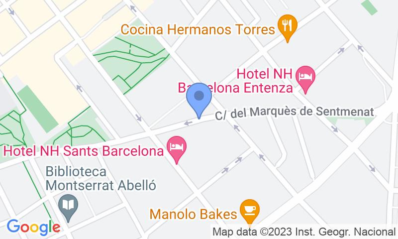 Расположение парковки на карте - Забронируйте паркоместо на стоянке NN Marquès de Sentmenat 1