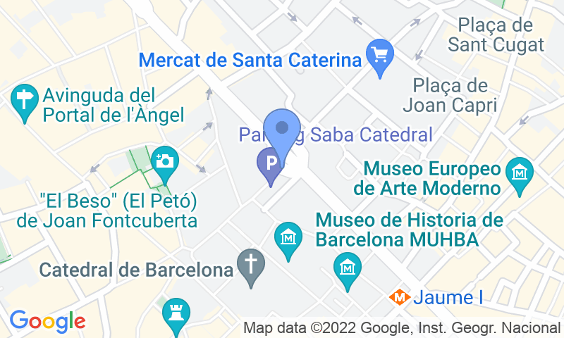 Localización del parking en el mapa - Reservar una plaza en el parking SABA Catedral