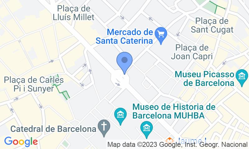 Parking location in the map - Book a parking spot in SABA BAMSA Francesc Cambó car park