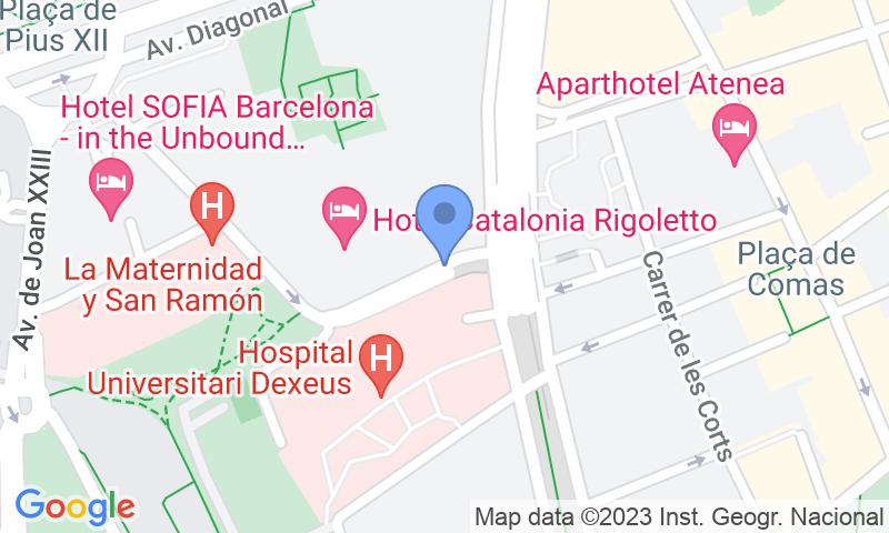 Localizzazione del parcheggio sulla mappa - Prenota un posto nel parcheggio SABA Carles III - Diagonal - Sabino Arana